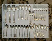 1847 Rogers Bros  IS Silverplate Flatware Silverware 34 pieces Antique