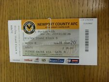 29/03/2014 Ticket: Newport County v Portsmouth  . Thanks for viewing this item,