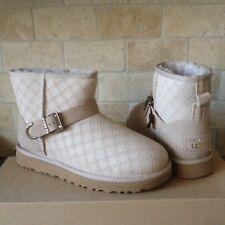 UGG Marilu Double Diamond Bling Pearl Suede Mini Boots Size US 7 Womens NIB