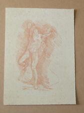 antico disegno a sanguigna angelo del sec. XVIII