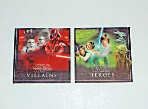 2er Set Star Wars Bilder,  Heros Villains Bilder, Wand Deko, Wandbilder