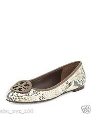 NIB Tory Burch Louisa  snake natural brown leather ballet flat Fango Reva SIZE 6