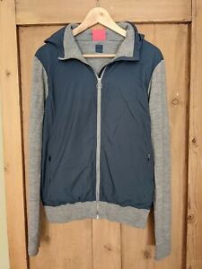 Rapha Classic Merino City Riding Hooded Top, Size Small, Petrol Blue