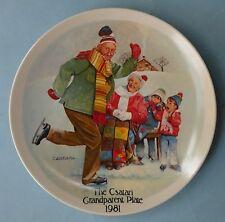 Knowles Americana Collection Csatari Grandparent Plate 1981 Skating Lesson Box