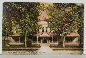 Indiana The Marshall Memorial Winona Lake 1910 to Kinsman Ohio Postcard Q14
