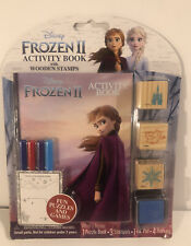 Disney Frozen 2 Activity Book With Wooden Stamps New in Package.