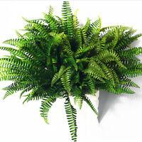 LARGE ARTIFICIAL SILK BOSTON FERN FAKE GREEN HANGING BASKET PLANT WITHOUT BASKET