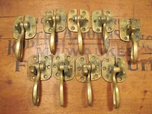 Vintage Brass Ice Box Freezer Latch Handles Antique Old Lot