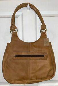 Vintage NWT MADE Kenya By The People For The People Leather Hobo Bag
