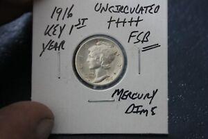 1916    FSB   UNC+++  MERCURY DIME
