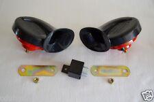 E-mark Twin Tone Snail Air Horn Siren Klaxon for BMW E30 E32 E34 E36 E46 E40 E38