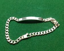 "Silver (925) Caballeros pulsera de identificación 9""/22.5 Cm"