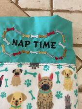 Pet Dog Blanket Multi Embroidered Homemade 37x20x1/4 Inches