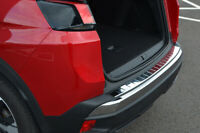 For Peugeot 3008 (2017+) - Chrome Rear Bumper Protector Scratch Guard S.Steel
