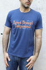 Napapijri Homme à Manches Courtes Tee Bleu Casuals T-shirt coton auth M Medium