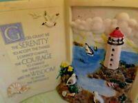 Sentiments Glass Plaque Religious Gift Serenity Courage Wisdom Prayer