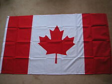 CANADA FLAG FLAGS 5'X3' POLYESTER BRAND NEW POST FREE IN UK