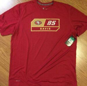 NIKE SAN FRANCISCO 49ERS Mens Size Vernon Davis Dri Fit Player Shirt XL New Rare