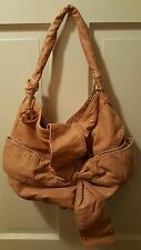 MARC ECKO RED APHRODITE LARGE BOW Salmon/ Peach   Shoulder Handbag Hobo Bohemian