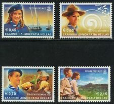 Greece. Scouting 2002 MNH, Navy scout - Air Scout, 4 Greek stamps in Euros.