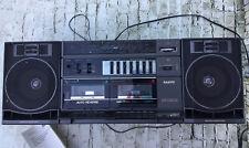 Sanyo C33 Boombox Ghettoblaster Dual Tape Deck Am/Fm Radio Tested Vintage Rare