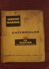 CATERPILLAR CAT CRAWLER D8 DOZER SERVICE MANUAL 36A 35A