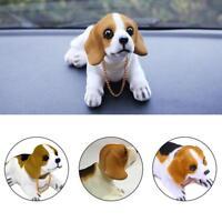 PRO,Car Vehicle Interior Ornament White Bobbing Head Nodding Dog White w/