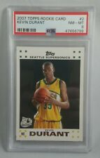 2007-08 Topps Rookie Set #2 Kevin Durant PSA 8 NM-MT
