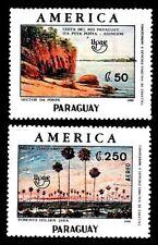 PARAGUAY 1990 TEMA UPAEP S/N  COSTA DEL RIO Y PAISAJE CHAQUEÑO 2v.