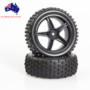06010 HSP 1/10 Off Road Buggy Front Wheel Complete Black  Redcat 2 PCs