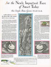 1920s BIG Vintage Woodbury Cream Baron Adoph De Meyer Lady Photo Print Ad