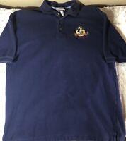 WALT DISNEY WORLD Vintage Men's Size Medium Blue Polo Shirt