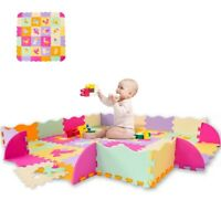 Baby Play Mat with Fence Interlockin Foam Floor Tiles With Crawling Pad Indoor