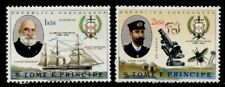 St Thomas & Principe 393-4 MNH Navy Club, Ships, Microscope, Teste Fly