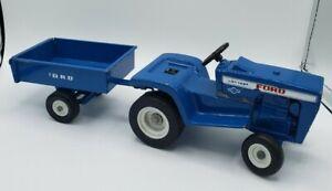 "Vintage 11"" Die-cast Ford LGT 145 Lawn and Garden Set Tractor Ertl  #814"