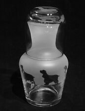 More details for cocker spaniel dog gift carafe with engraved glass...boxed.