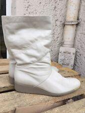 Winterstiefel SchneeStiefel Boots 80er True Vintage Leder Weiß 80s Gr. 41,5
