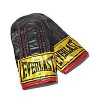 Everlast Leather Boxing Bag Weighted Gloves 4308 Speed Bag Training Lightly Used