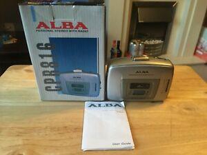 Vintage Retro ALBA Personal Cassette Radio, Boxed, Tested.