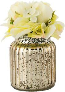 Ganz Ivory Hydrangea Flower Arrangement in Glass Jar (GF0031)