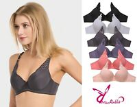 Lot of 6pc Full Cup Floral Poly Comfort Lingerie Bra 30A-36A 32B-38B 34C-40C Cup