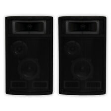 Acoustic Audio PA-500X Passive 800W 3-Way Speaker Pair DJ PA Studio Speakers