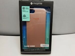 mophie Hold Force Base magnetic Case for iPhone SE 2nd Gen iphone 8 7 Rose Gold