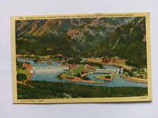 Bonneville Dam, Columbia River Vintage colour Postcard c1950