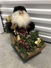 Ultra Rare Lynn Haney Father Christmas Santa Midwest Importers Sleigh 1991