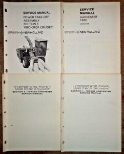 New Holland 1880 Harvester Hydrostatic Motor Pump PTO & Variator Service Manuals
