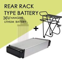 36V 14AH Lithium Battery Rear Rack Li-ion For E-bike Bicycle 500W Motor Kit HM