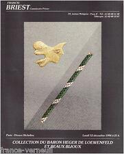 Catalogue Vente Briest Bijoux Georges Braques Collection Heger de Loewenfeld