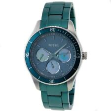 Fossil Women's Stella ES3036 Green Stainless-Steel Quartz Watch with Green Dial