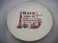 Commemorative Plate~Corn Oklahoma 80th Anniversary